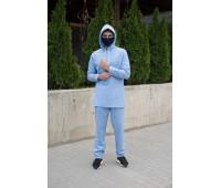 Камис мужской из льна «Амир» Голубой