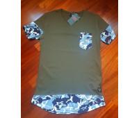 Удлиненная футболка мужская «Айдар»