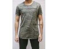 """Удлиненная серая футболка мужская """"Spruce"""""""