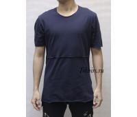 """Удлиненная темно-синяя футболка мужская EKSI 1 """"LACI"""""""
