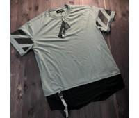 """Удлиненная серая футболка мужская """"Vaganza Anthracite"""""""