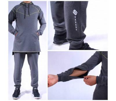 "Мусульманский спортивный костюм №4 ""SAHABA"", серый"